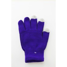 Unisex Touch Screen Gloves Dark Purple